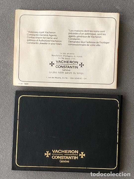 Relojes - Vacheron: vacheron constantin , documentación del reloj , guarantee booklet , 39200 de 1983 - Foto 2 - 210821942