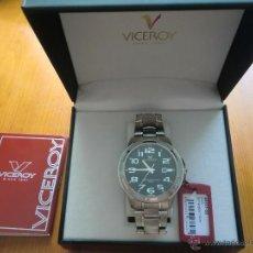 Relojes - Viceroy: RELOJ VICEROY. ACERO SUMERGIBLE 100 M 40317-55. CON ESTUCHE. ¡NUEVO A ESTRENAR!. Lote 39807430