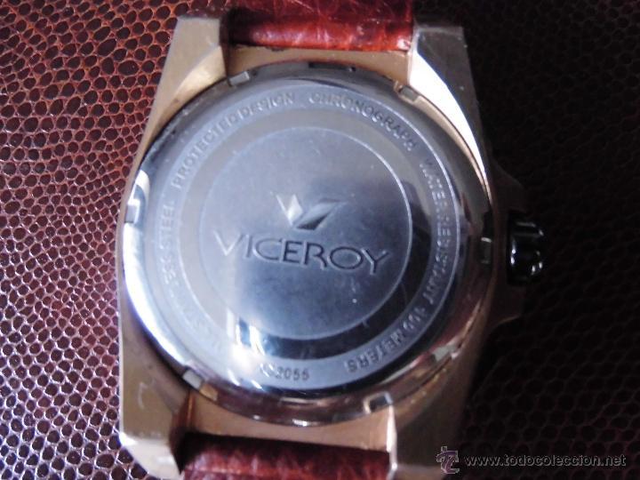 Relojes - Viceroy: RELOJ MARCA VICEROY CRONÓGRAFO GRAN TAMAÑO CORREA PIEL NUEVA - Foto 4 - 45266475