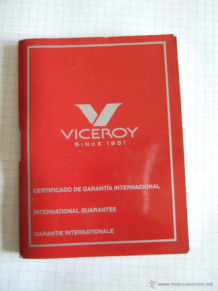 CERTIFICADO DE GARANTIA RELOJ VICEROY - LIBRITO 67 PAGINAS (Relojes - Relojes Actuales - Viceroy)