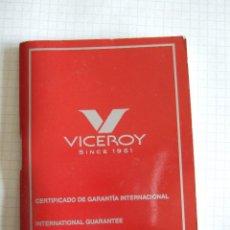 Relojes - Viceroy: CERTIFICADO DE GARANTIA RELOJ VICEROY - LIBRITO 67 PAGINAS. Lote 54156230