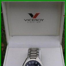 Relojes - Viceroy: RELOJ CAJA DE ACERO VICEROY....WATER RESISTENT 5 ATM...Nº 43351 ...COMO NUEVO...FUNCIONANDO. Lote 56154922
