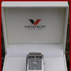 Relojes - Viceroy: RELOJ CAJA DE ACERO VICEROY QUARTZ....WATER RESISTANT 30M.....EXTRAPLANO...COMO NUEVO...FUNCIONANDO. Lote 56155126
