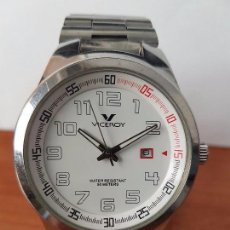 Relojes - Viceroy: RELOJ DE CABALLERO VICEROY WATER RESISTENTE 50 METROS CALENDARIO A LAS TRES CON CORREA DE ACERO . Lote 69002069