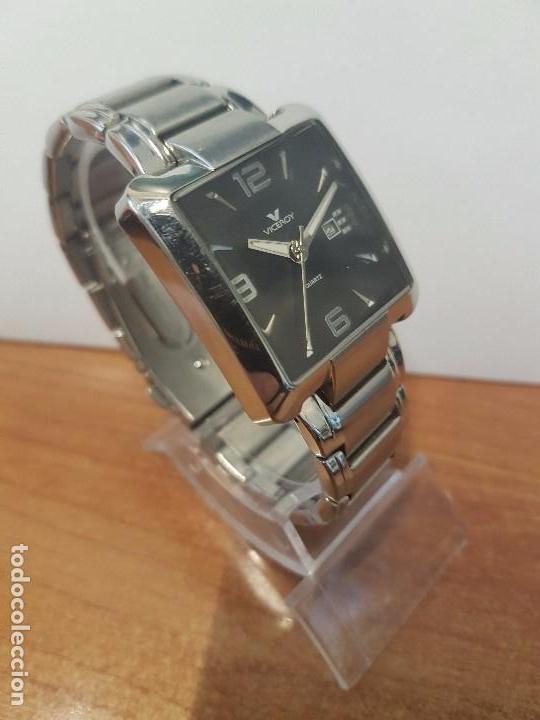 Relojes - Viceroy: Reloj de caballero cuarzo marca VICEROY, calendario a las tres horas, correa original VICEROY - Foto 2 - 82123220