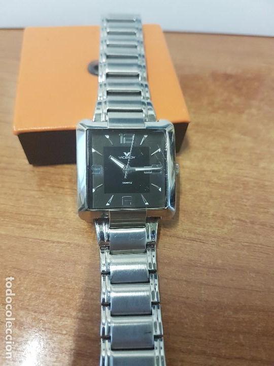 Relojes - Viceroy: Reloj de caballero cuarzo marca VICEROY, calendario a las tres horas, correa original VICEROY - Foto 4 - 82123220