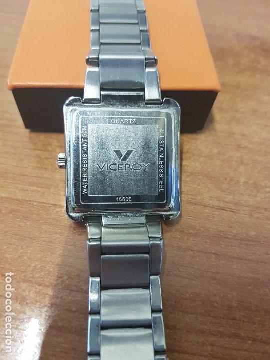 Relojes - Viceroy: Reloj de caballero cuarzo marca VICEROY, calendario a las tres horas, correa original VICEROY - Foto 5 - 82123220