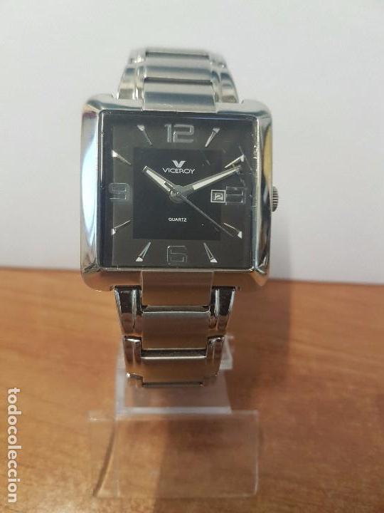 Relojes - Viceroy: Reloj de caballero cuarzo marca VICEROY, calendario a las tres horas, correa original VICEROY - Foto 6 - 82123220