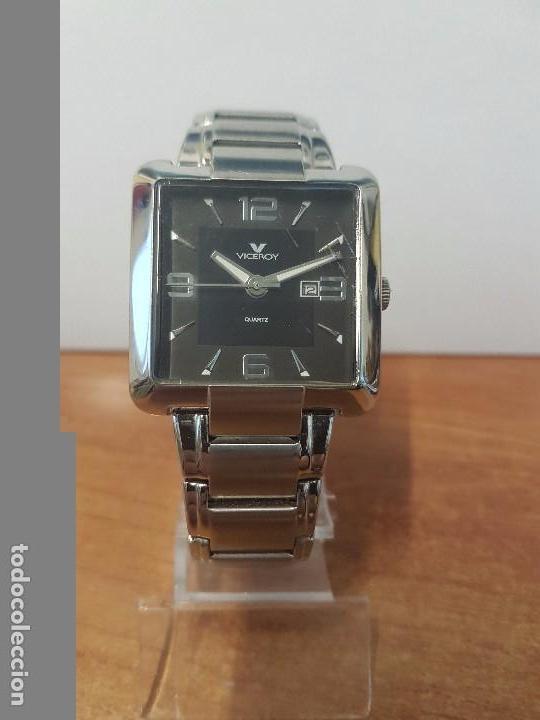 Relojes - Viceroy: Reloj de caballero cuarzo marca VICEROY, calendario a las tres horas, correa original VICEROY - Foto 7 - 82123220