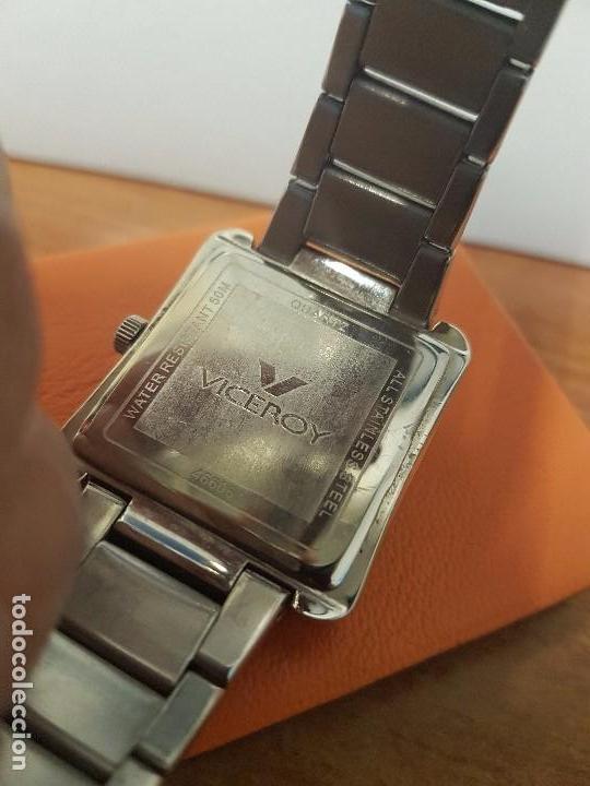 Relojes - Viceroy: Reloj de caballero cuarzo marca VICEROY, calendario a las tres horas, correa original VICEROY - Foto 9 - 82123220
