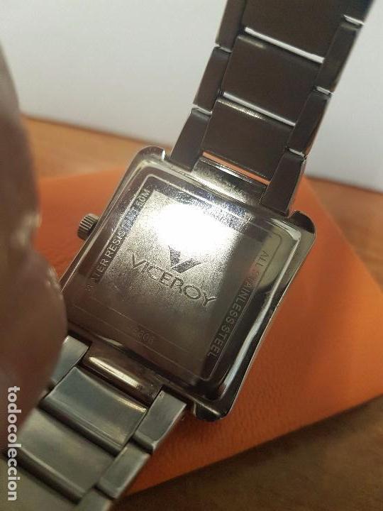 Relojes - Viceroy: Reloj de caballero cuarzo marca VICEROY, calendario a las tres horas, correa original VICEROY - Foto 11 - 82123220