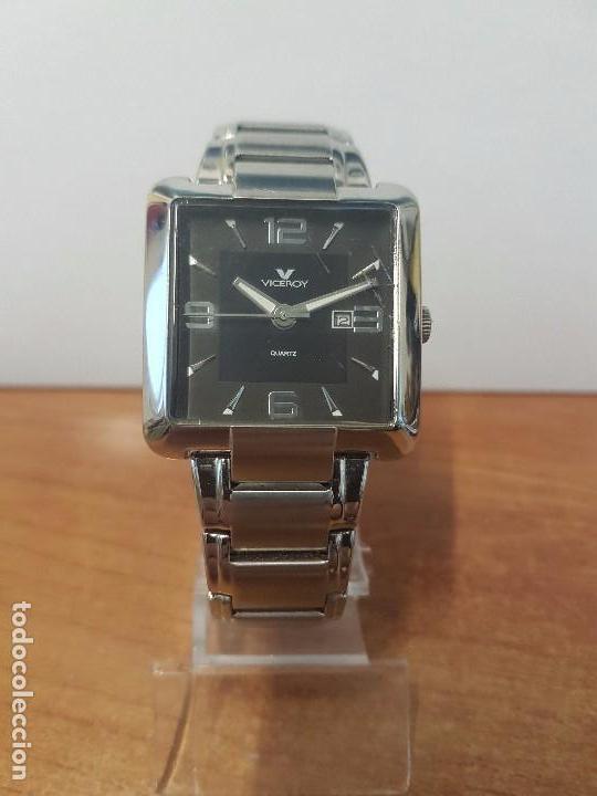 Relojes - Viceroy: Reloj de caballero cuarzo marca VICEROY, calendario a las tres horas, correa original VICEROY - Foto 13 - 82123220