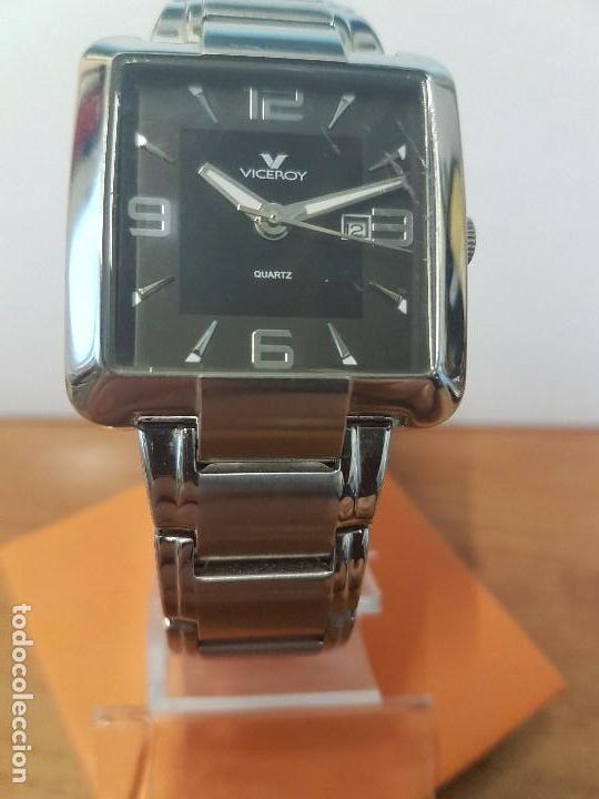 Relojes - Viceroy: Reloj de caballero cuarzo marca VICEROY, calendario a las tres horas, correa original VICEROY - Foto 14 - 82123220