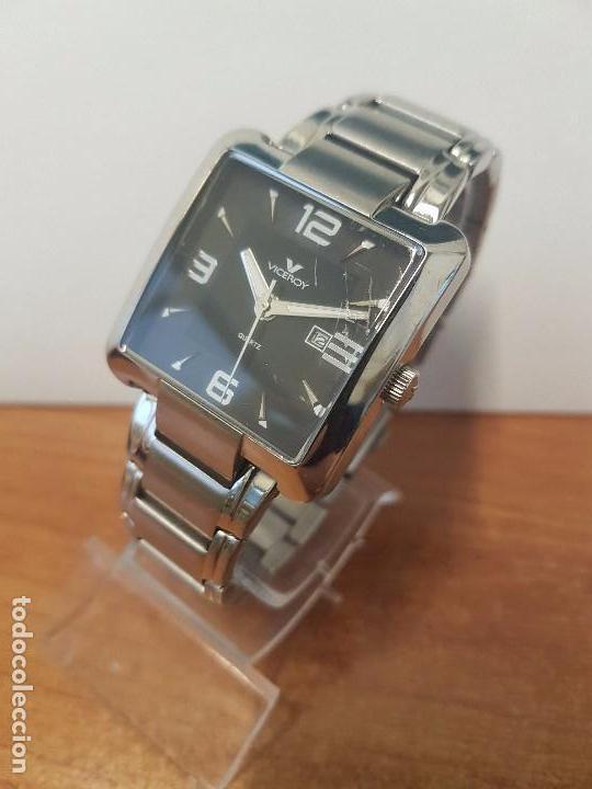 Relojes - Viceroy: Reloj de caballero cuarzo marca VICEROY, calendario a las tres horas, correa original VICEROY - Foto 15 - 82123220