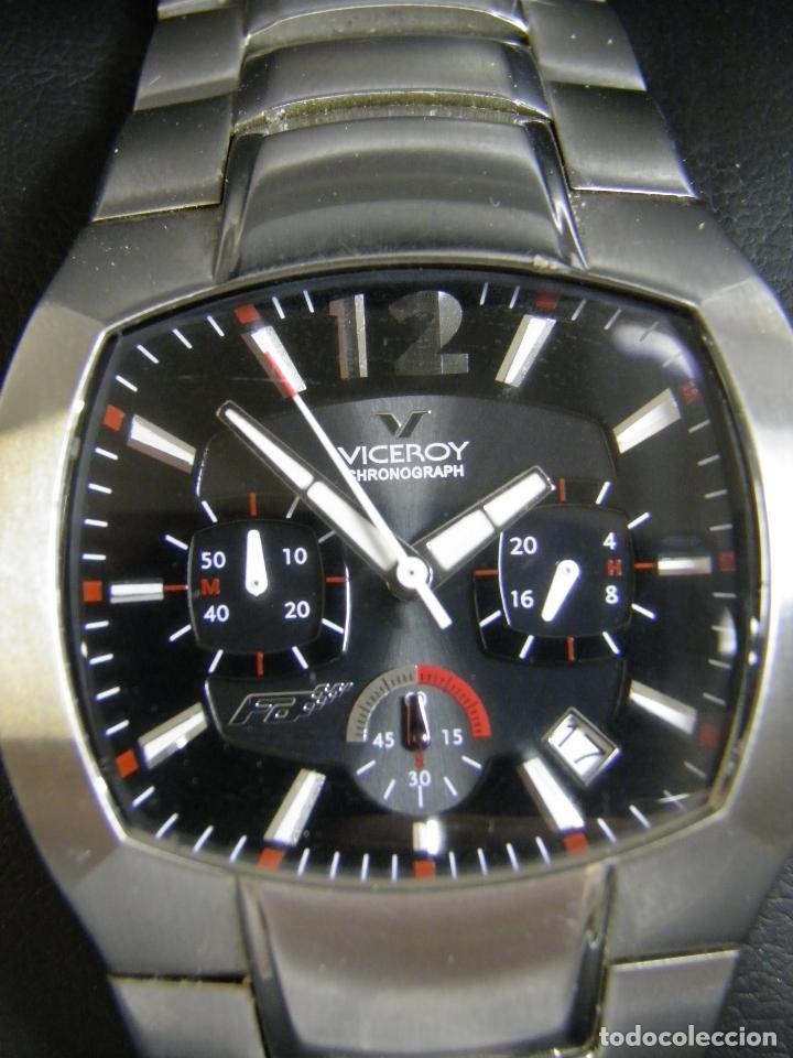 Relojes - Viceroy: RELOJ VICEROY CHRONOGRAPH,FERNANDO ALONSO,CAJA ORIGINAL - Foto 2 - 96160127