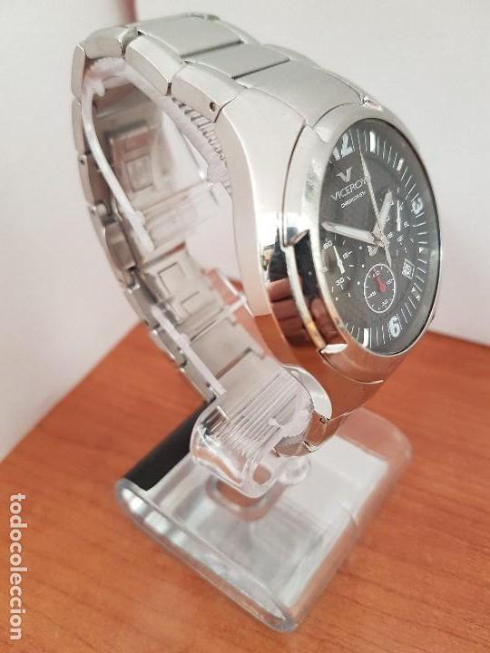 Relojes - Viceroy: Reloj caballero de acero Viceroy cronografo con calendario entre las cuatro y cinco, correa acero - Foto 4 - 142080888