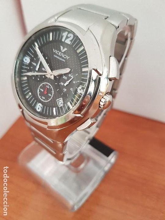 Relojes - Viceroy: Reloj caballero de acero Viceroy cronografo con calendario entre las cuatro y cinco, correa acero - Foto 10 - 142080888