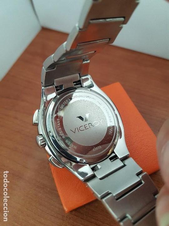 Relojes - Viceroy: Reloj caballero de acero Viceroy cronografo con calendario entre las cuatro y cinco, correa acero - Foto 12 - 142080888