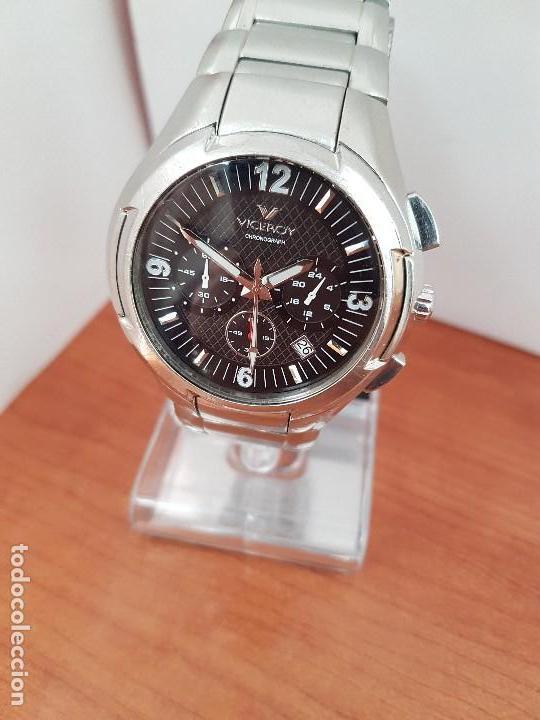 Relojes - Viceroy: Reloj caballero de acero Viceroy cronografo con calendario entre las cuatro y cinco, correa acero - Foto 14 - 142080888