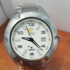 Relojes - Viceroy: RELOJ CABALLERO CUARZO VICEROY, OFICIAL CENTENARIO REAL MADRID, CORREA ACERO ORIGINAL REAL MADRID . Lote 114382147