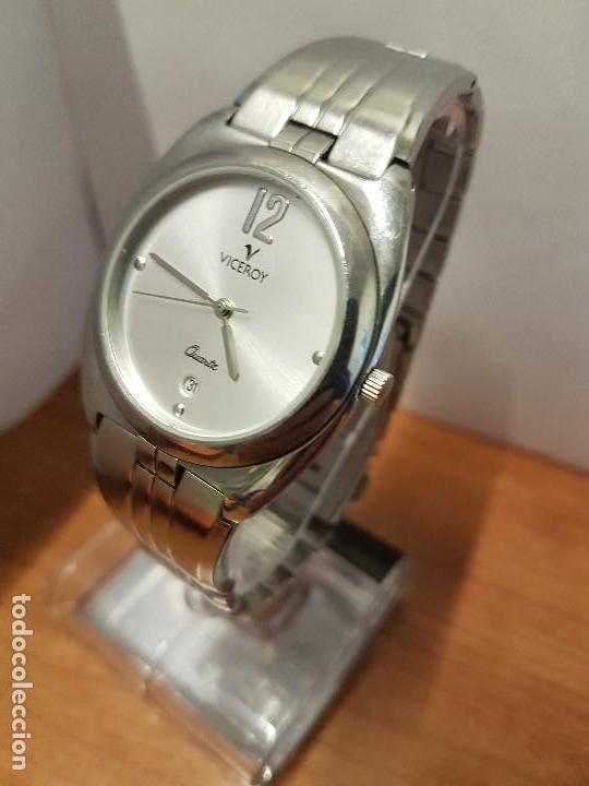 Relojes - Viceroy: Reloj caballero cuarzo Viceroy con calendario a las seis horas, correa de acero original Viceroy - Foto 2 - 114389319