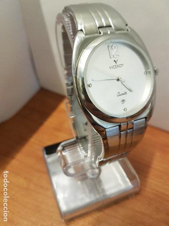 Relojes - Viceroy: Reloj caballero cuarzo Viceroy con calendario a las seis horas, correa de acero original Viceroy - Foto 3 - 114389319