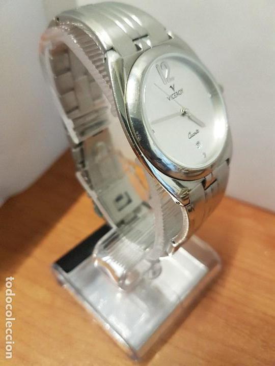 Relojes - Viceroy: Reloj caballero cuarzo Viceroy con calendario a las seis horas, correa de acero original Viceroy - Foto 5 - 114389319