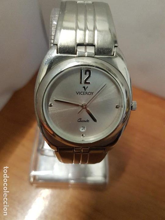 Relojes - Viceroy: Reloj caballero cuarzo Viceroy con calendario a las seis horas, correa de acero original Viceroy - Foto 9 - 114389319