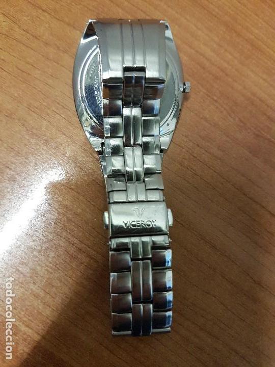 Relojes - Viceroy: Reloj caballero cuarzo Viceroy con calendario a las seis horas, correa de acero original Viceroy - Foto 12 - 114389319