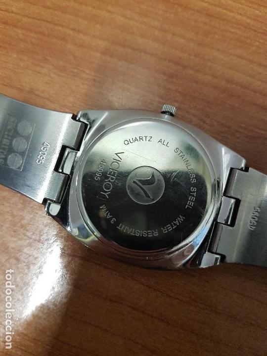 Relojes - Viceroy: Reloj caballero cuarzo Viceroy con calendario a las seis horas, correa de acero original Viceroy - Foto 14 - 114389319