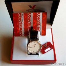 Relojes - Viceroy: VICEROY RELOJ CLASIC HOMBRE CAJA ACERO/CORREA CUERO/IMPERMEABLE 30 METROS NUEVO. Lote 120994439