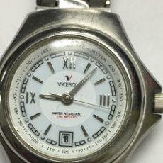 Relojes - Viceroy: RELOJ VICEROY 100METROS EN ACERO COMPLETO TACHYMETRE DE MUJER BUENA CONSERVACIÓN. Lote 121387302