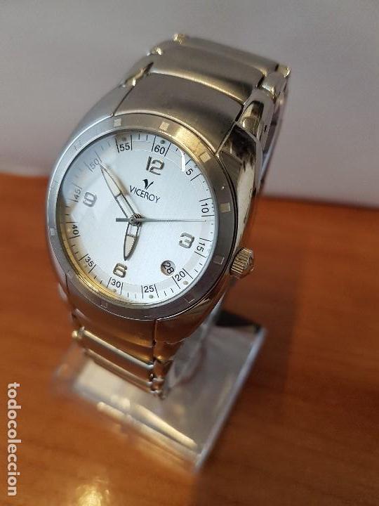 Relojes - Viceroy: Reloj caballero cuarzo Viceroy de acero con calendario a las cuatro, correa original de acero - Foto 2 - 122947887