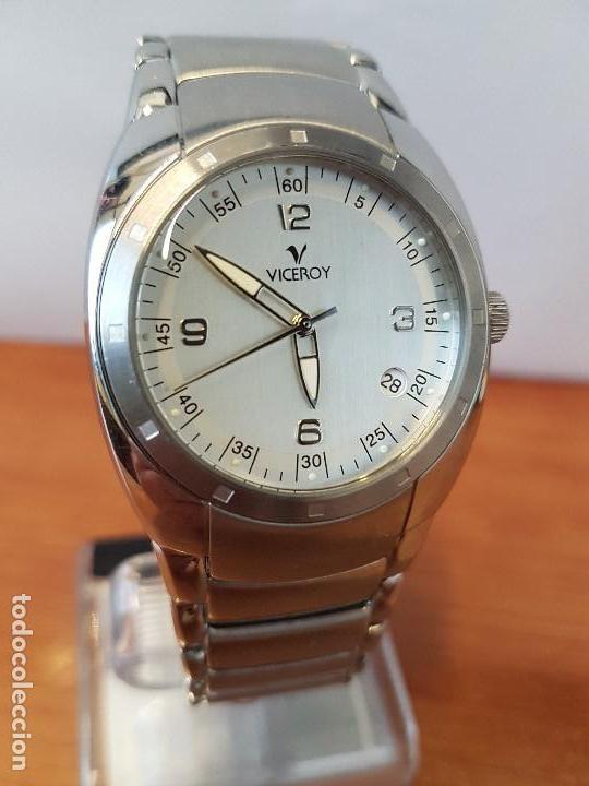 Relojes - Viceroy: Reloj caballero cuarzo Viceroy de acero con calendario a las cuatro, correa original de acero - Foto 3 - 122947887