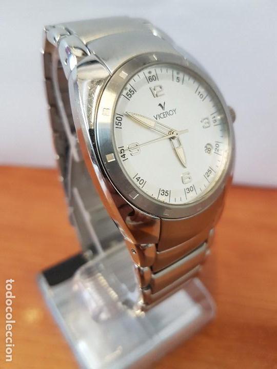 Relojes - Viceroy: Reloj caballero cuarzo Viceroy de acero con calendario a las cuatro, correa original de acero - Foto 5 - 122947887