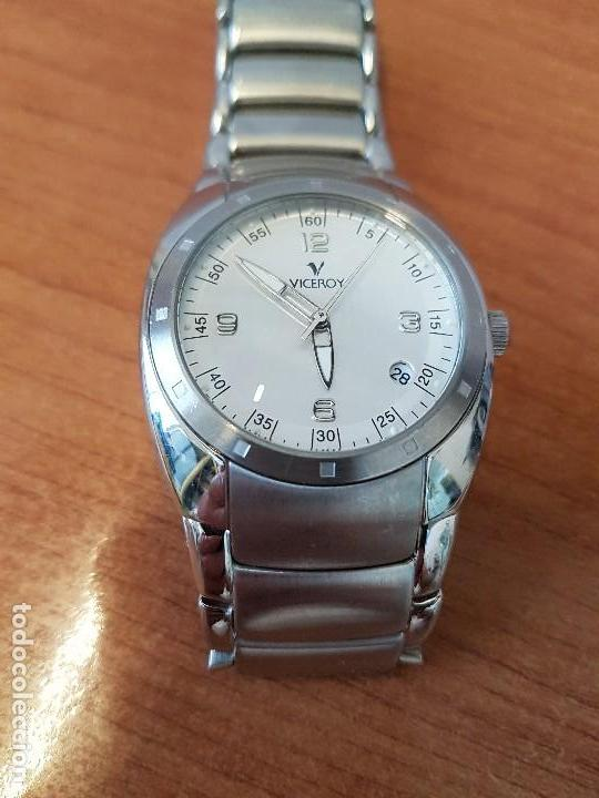 Relojes - Viceroy: Reloj caballero cuarzo Viceroy de acero con calendario a las cuatro, correa original de acero - Foto 8 - 122947887