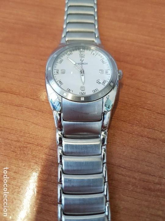 Relojes - Viceroy: Reloj caballero cuarzo Viceroy de acero con calendario a las cuatro, correa original de acero - Foto 9 - 122947887