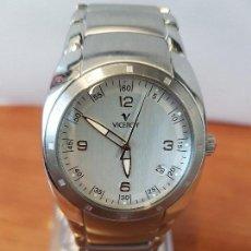 Relojes - Viceroy: RELOJ CABALLERO CUARZO VICEROY DE ACERO CON CALENDARIO A LAS CUATRO, CORREA ORIGINAL DE ACERO. Lote 122947887