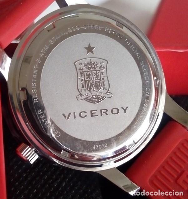 Relojes - Viceroy: BONITO RELOJ DE ESPAÑA VICEROY OFICIAL DE LA SELECCION ESPAÑOLA CAMPEONA DEL MUNDO Y EUROPA UNISEX - Foto 6 - 124253483