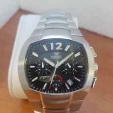 Relojes - Viceroy: RELOJ CABALLERO VICEROY CRONOGRAFO FERNANDO ALONSO DE CUARZO, CORREA DE ACERO ORIGINAL, SIN USO . Lote 133249902