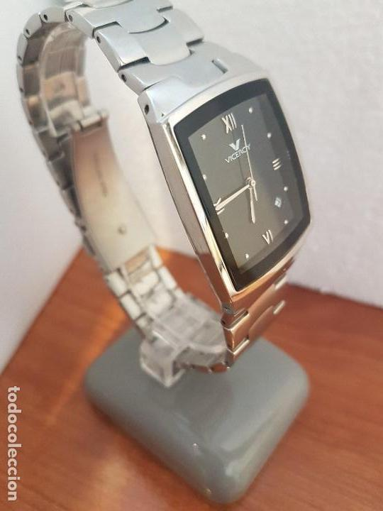 Relojes - Viceroy: Reloj caballero de cuarzo marca VICEROY esfera negra con calendario entre las 4 y 5 correa acero - Foto 3 - 133254514