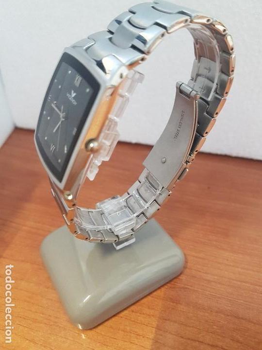 Relojes - Viceroy: Reloj caballero de cuarzo marca VICEROY esfera negra con calendario entre las 4 y 5 correa acero - Foto 4 - 133254514