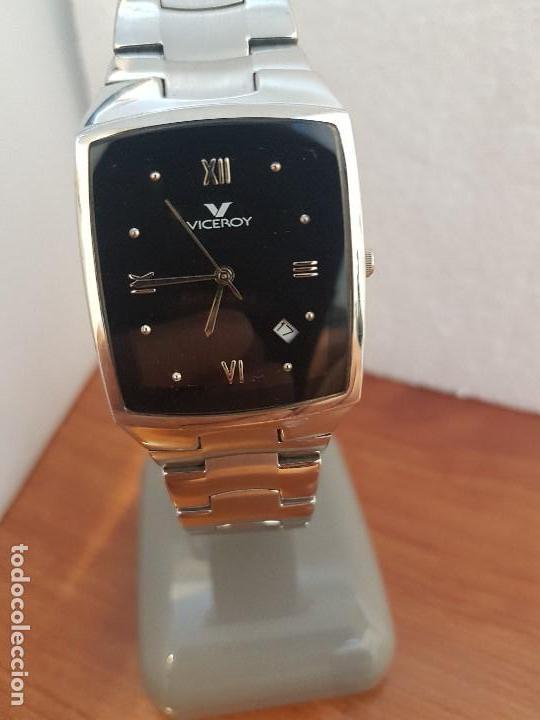 Relojes - Viceroy: Reloj caballero de cuarzo marca VICEROY esfera negra con calendario entre las 4 y 5 correa acero - Foto 5 - 133254514