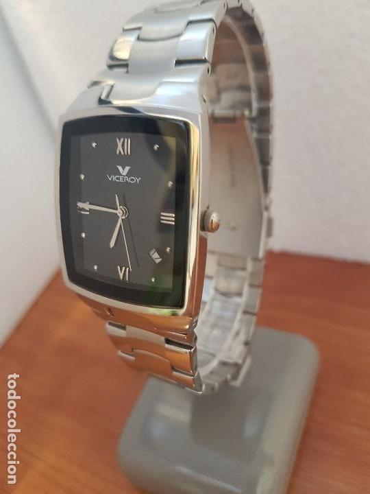 Relojes - Viceroy: Reloj caballero de cuarzo marca VICEROY esfera negra con calendario entre las 4 y 5 correa acero - Foto 7 - 133254514