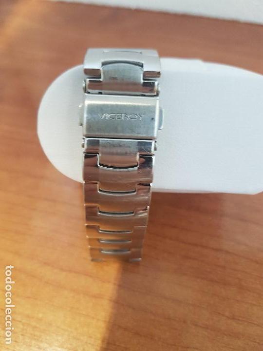 Relojes - Viceroy: Reloj caballero de cuarzo marca VICEROY esfera negra con calendario entre las 4 y 5 correa acero - Foto 8 - 133254514