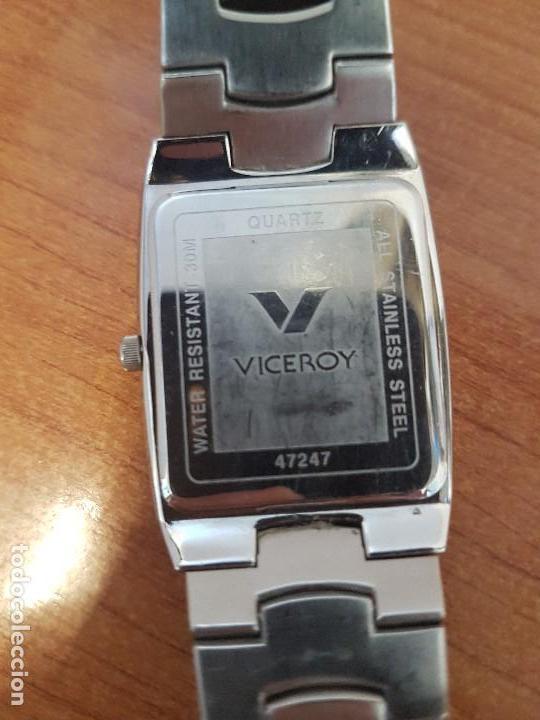 Relojes - Viceroy: Reloj caballero de cuarzo marca VICEROY esfera negra con calendario entre las 4 y 5 correa acero - Foto 10 - 133254514