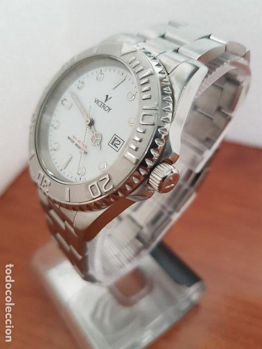 Relojes - Viceroy: Reloj caballero VICEROY de cuarzo con correa de acero original, esfera blanca, bisel giratorio - Foto 2 - 138607466
