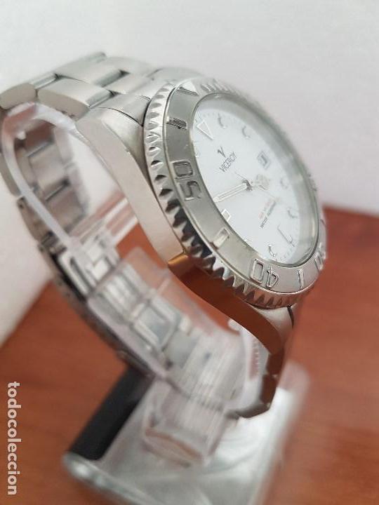 Relojes - Viceroy: Reloj caballero VICEROY de cuarzo con correa de acero original, esfera blanca, bisel giratorio - Foto 7 - 138607466