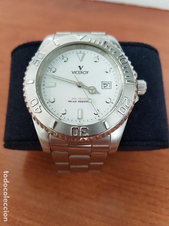 Relojes - Viceroy: Reloj caballero VICEROY de cuarzo con correa de acero original, esfera blanca, bisel giratorio - Foto 9 - 138607466