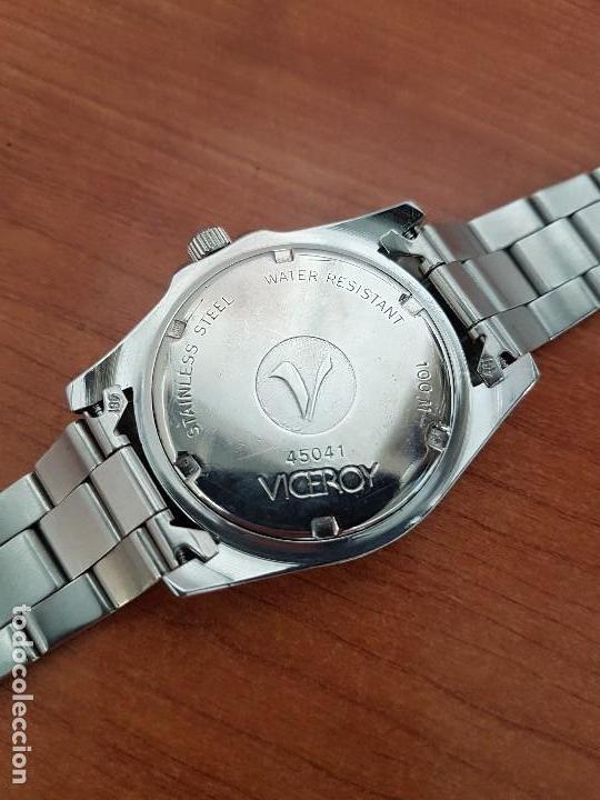 Relojes - Viceroy: Reloj caballero VICEROY de cuarzo con correa de acero original, esfera blanca, bisel giratorio - Foto 10 - 138607466
